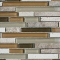Quantock Limestone mosaic brick tiles