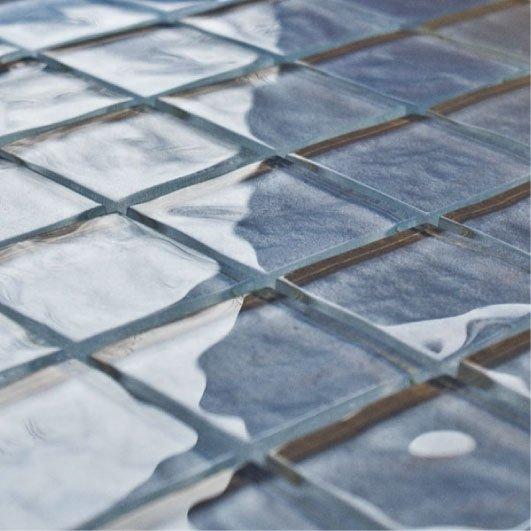 Impressions Monet Blue Glass Tiles