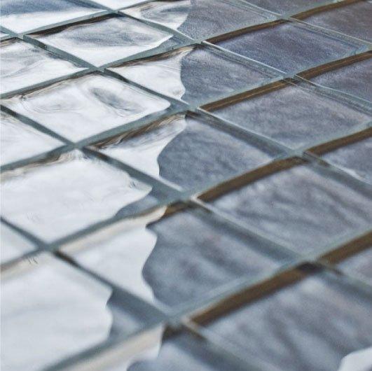 Impressions Blue Glass Tiles
