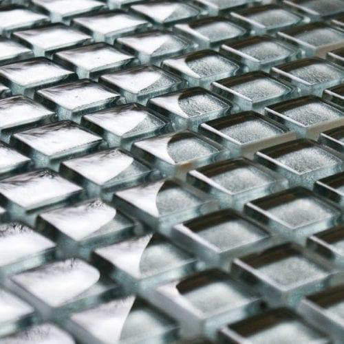 Aluminium glass mosaic tile