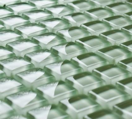 Apple green glass mosaic tiles