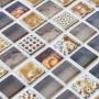 Aztec Beige mixed mosaic tiles