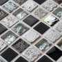 Aztec grey mixed mosaic tiles
