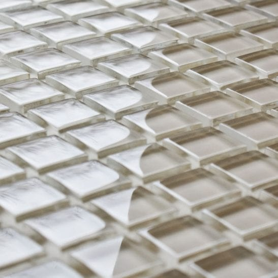 Barley glass mosaic tiles