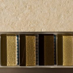 Mixed metallic plain brown glass mosaic brick tiles