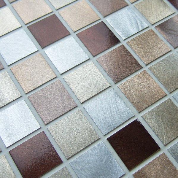 Metal works bronze metal mosaic tiles