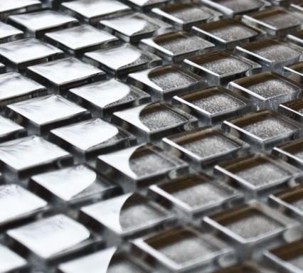 Carbon glass mosaic tiles