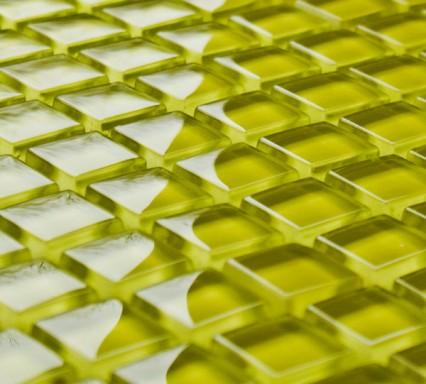 Daffodil glass mosaic tiles