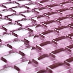 Fuchsia glass mosaic tiles