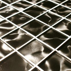Galactic grey odyssey glass mosaic tiles