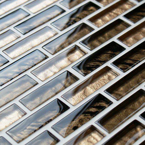 Gazelle safari glass mosaic brick tiles
