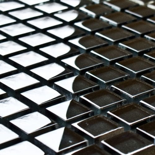 Graphite glass mosaic tiles