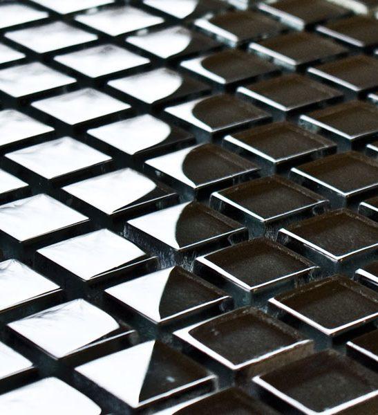 Graphite glass mosaic tiles