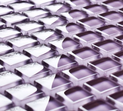 Heather glass mosaic tiles