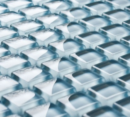 Ice Blue glass mosaic tiles