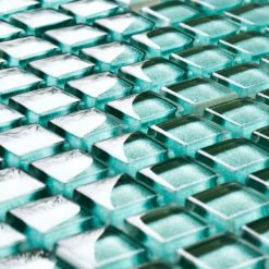 Ice Lime glass mosaic tiles