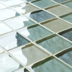 Mixed grey impressions glass mosaic tiles