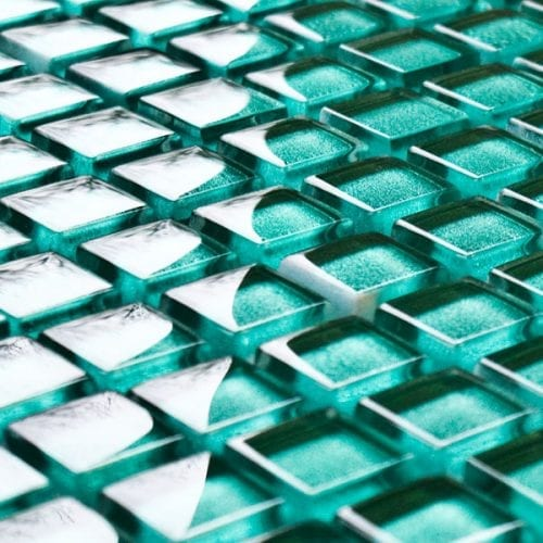 Kiwi glass mosaic tiles