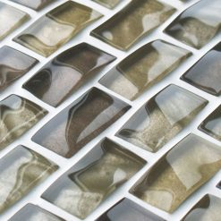 Light Brown reflections textured mosaic brick tiles