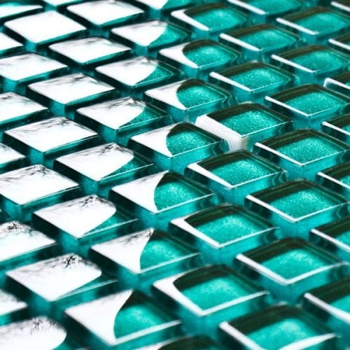 Malachite glass mosaic tiles