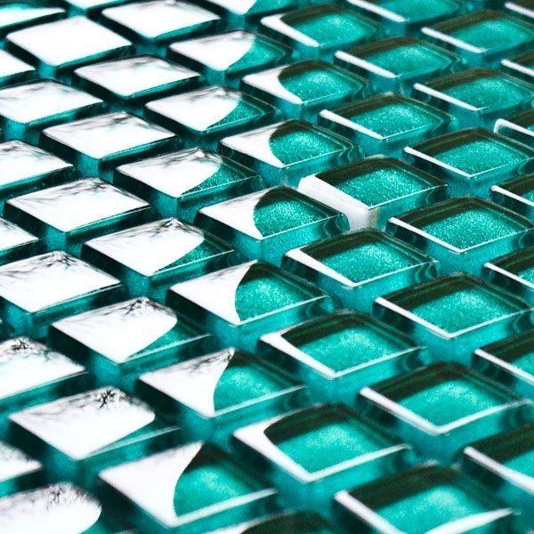 Malachite glass mosaic tiles