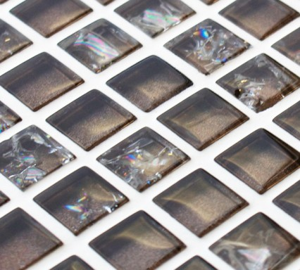 Mink sparkle glass mosaic tiles
