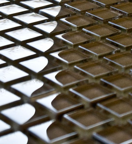Mocha glass mosaic tiles