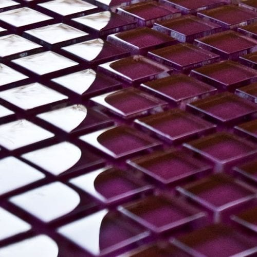 Mulberry glass mosaic tiles