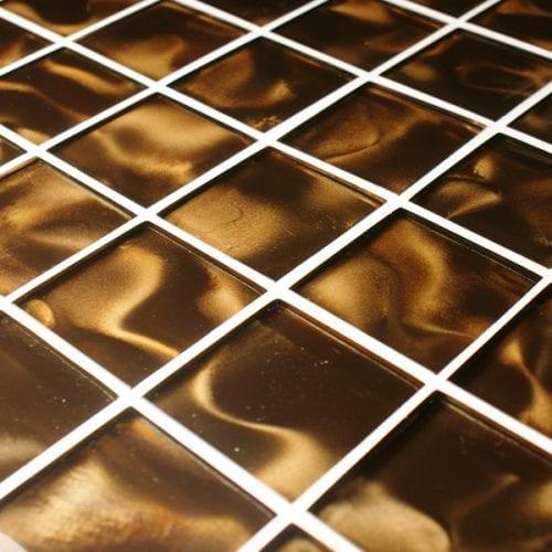 Odyssey Nebular brown glass mosaic tiles