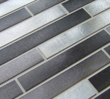 Metal works nickel metal mosaic tiles
