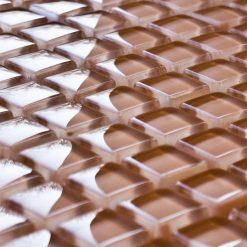 Ochre glass mosaic tiles