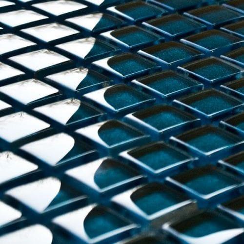 Peacock glass mosaic tiles