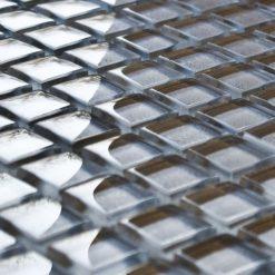 Pewter glass mosaic tiles