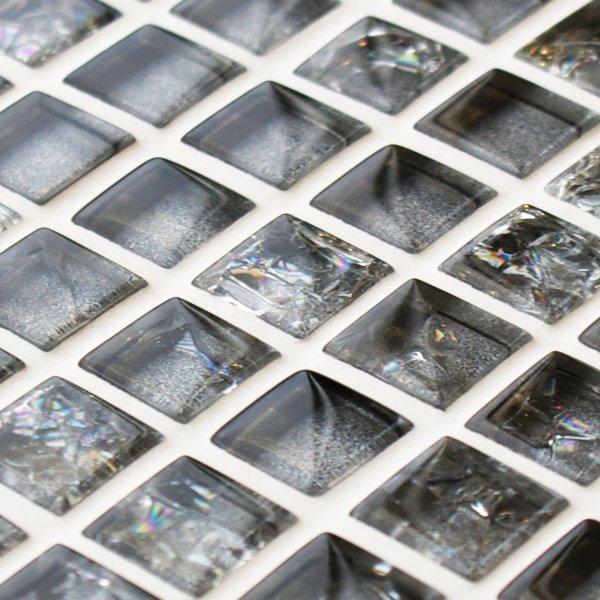 Platinum sparkle glass mosaic tiles