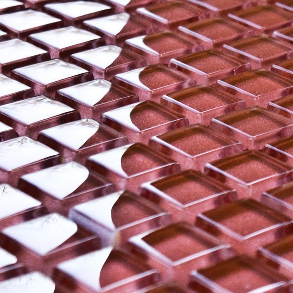 Red Copper glass mosaic tiles