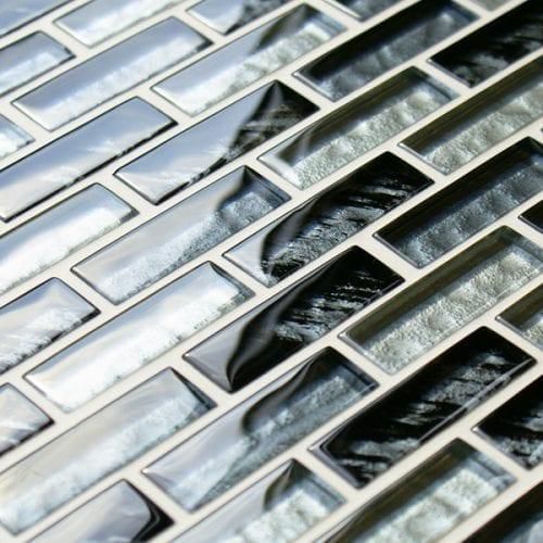 Rhino safari glass mosaic brick tiles
