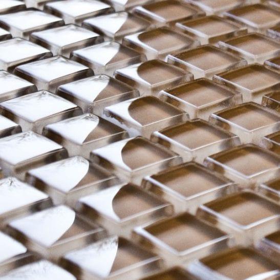 Sable glass mosaic tiles