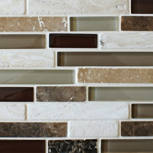 Sandstone quantock glass and stone mosaic border tiles
