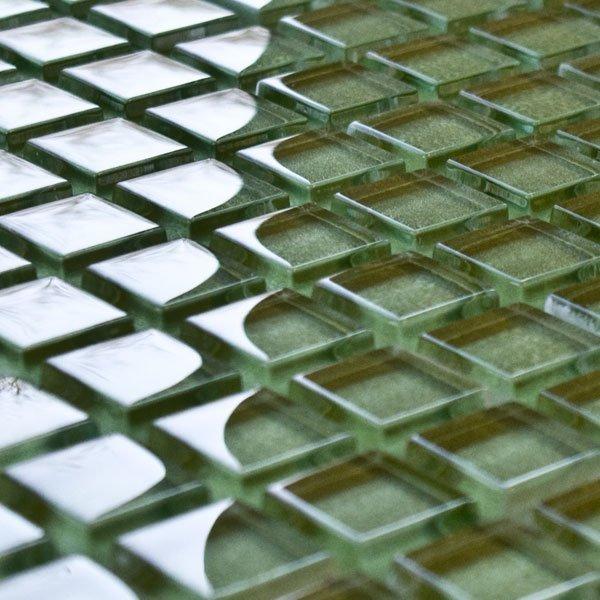 Sedge glass mosaic tiles