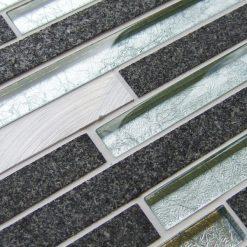 Metal works silver mosaic border tiles