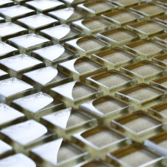 Soft Gold glass mosaic tiles