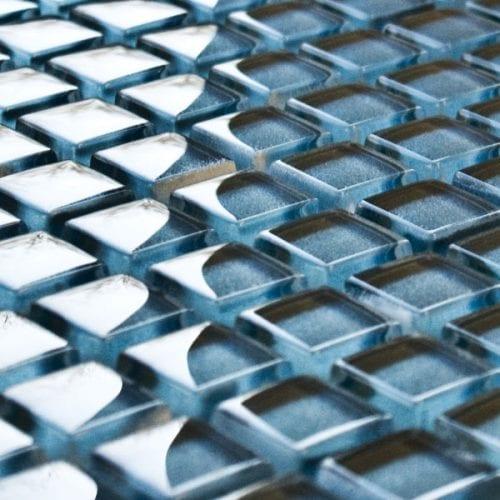 Steel glass mosaic tiles