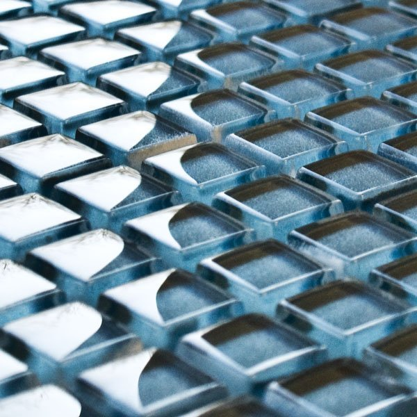 Steel glass mosaic tiles