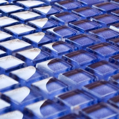 Thistle glass mosaic tiles