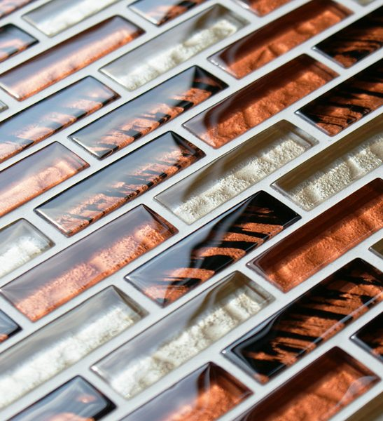 Tiger safari glass mosaic brick tiles