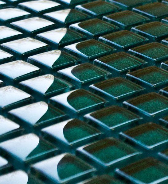 Watermelon glass mosaic tiles