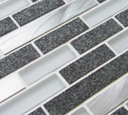 Metal Works Zinc mosaic border tiles