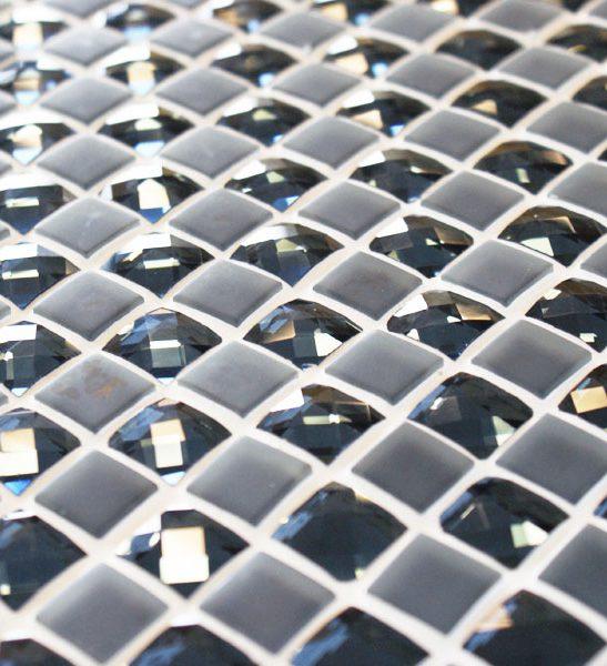 Jewel Akbar blue mixed glass mosaic tiles