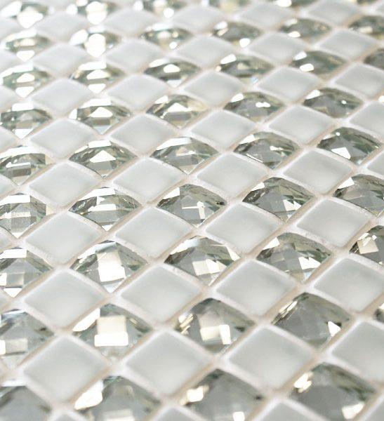 Jewel Manhattan Star white mosaic tiles
