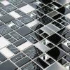 Trinity mixed glass and metal modular mosaic tile